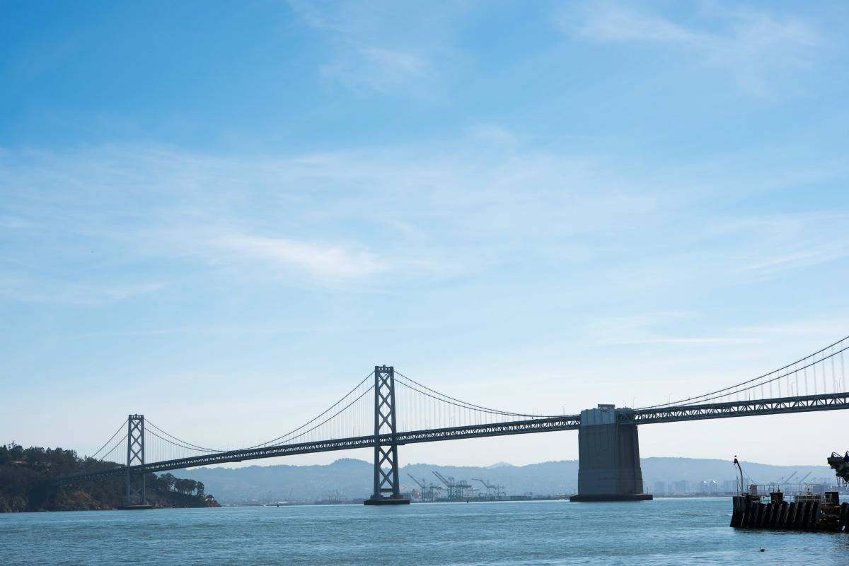 San Francisco Bay Bridge view from the Ferry Building