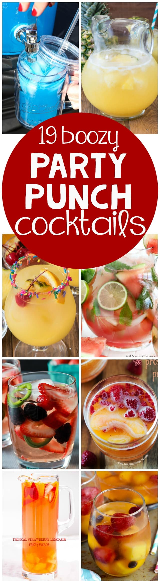 19 party punch cocktail recipes crazy for crust for Easy cocktail recipes for parties