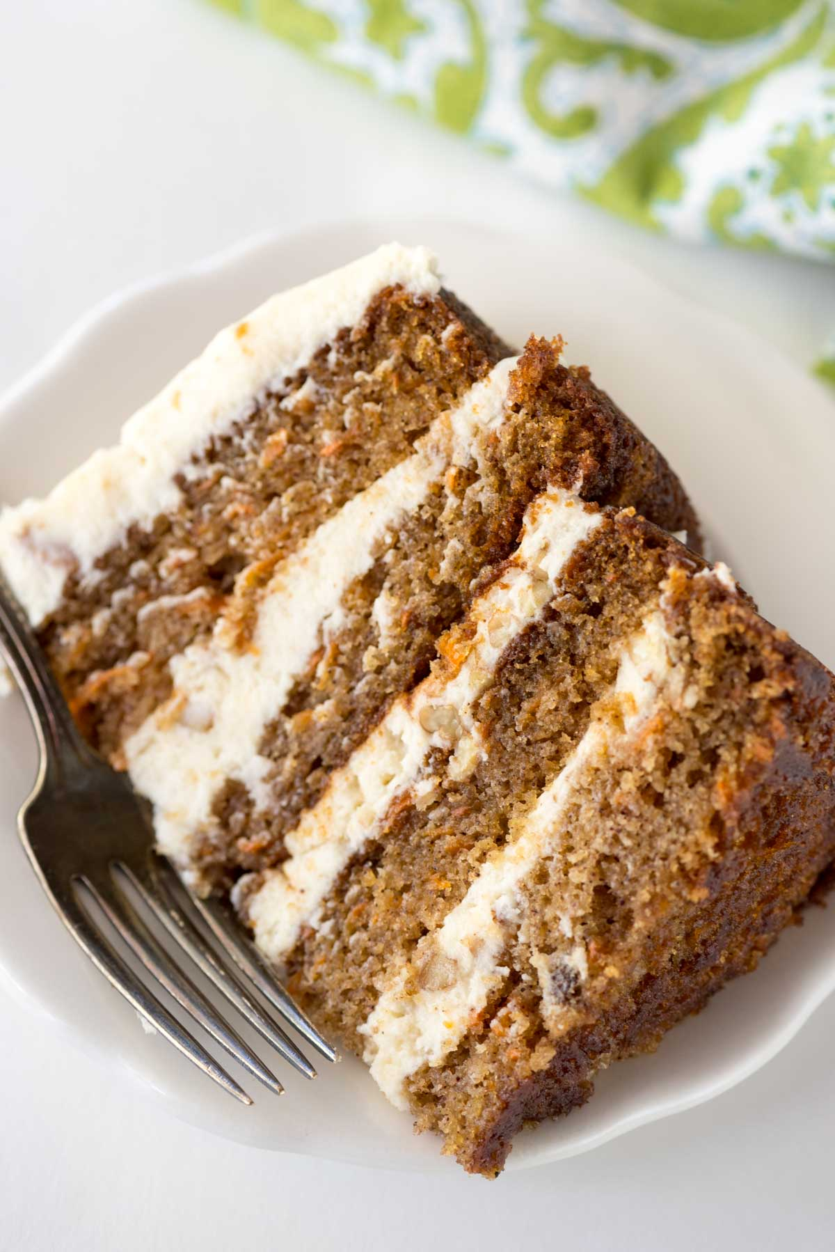 Naked Carrot Cake with Cream Cheese Frosting ⋆ Growing Up Cali