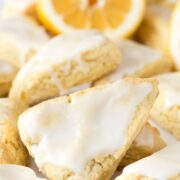 Group of mini lemon scones