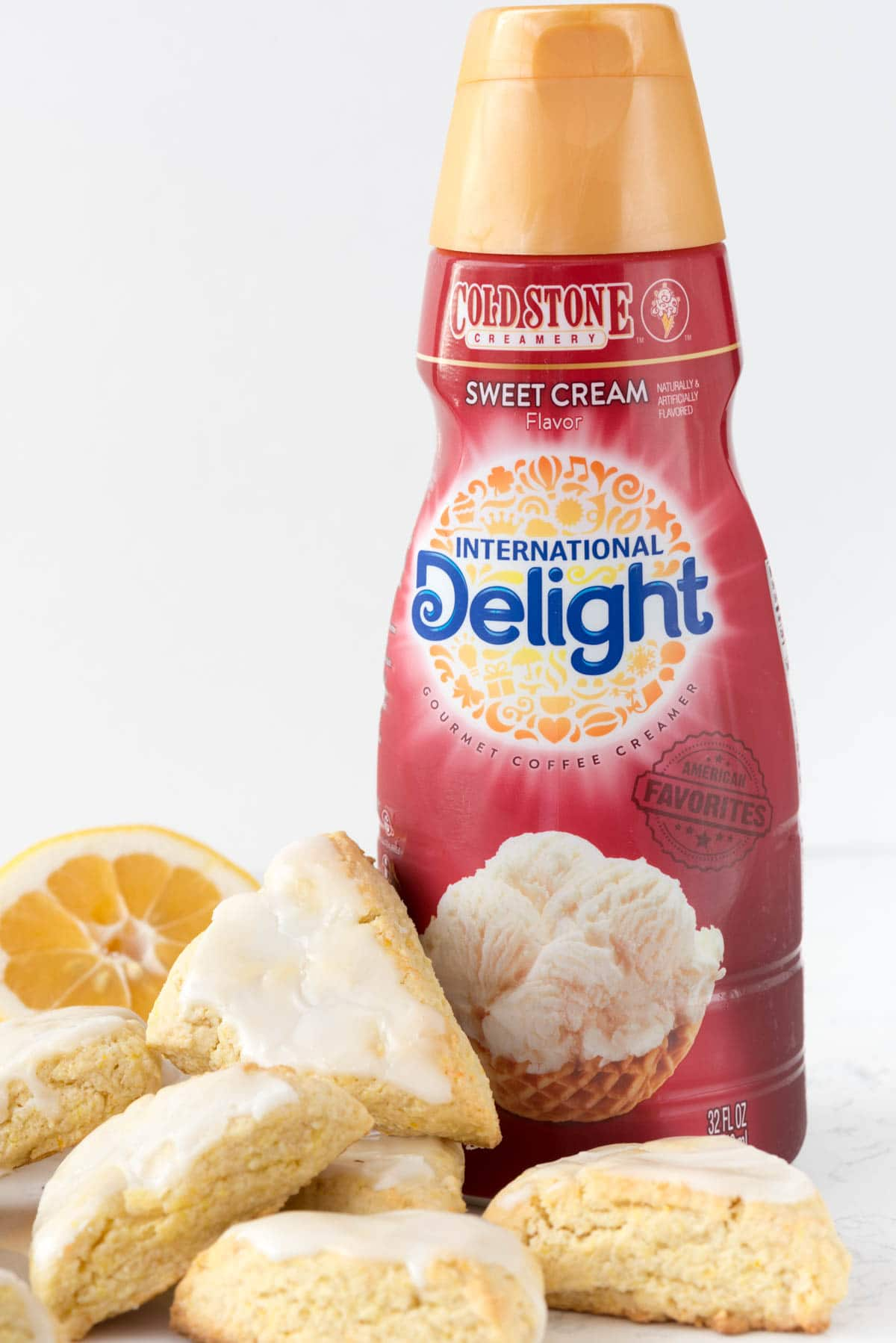 Mini Lemon Scones made with International Delight