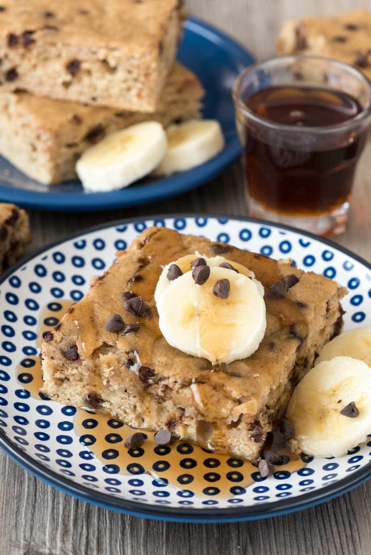 banana chocolate chip pancake cake recipe