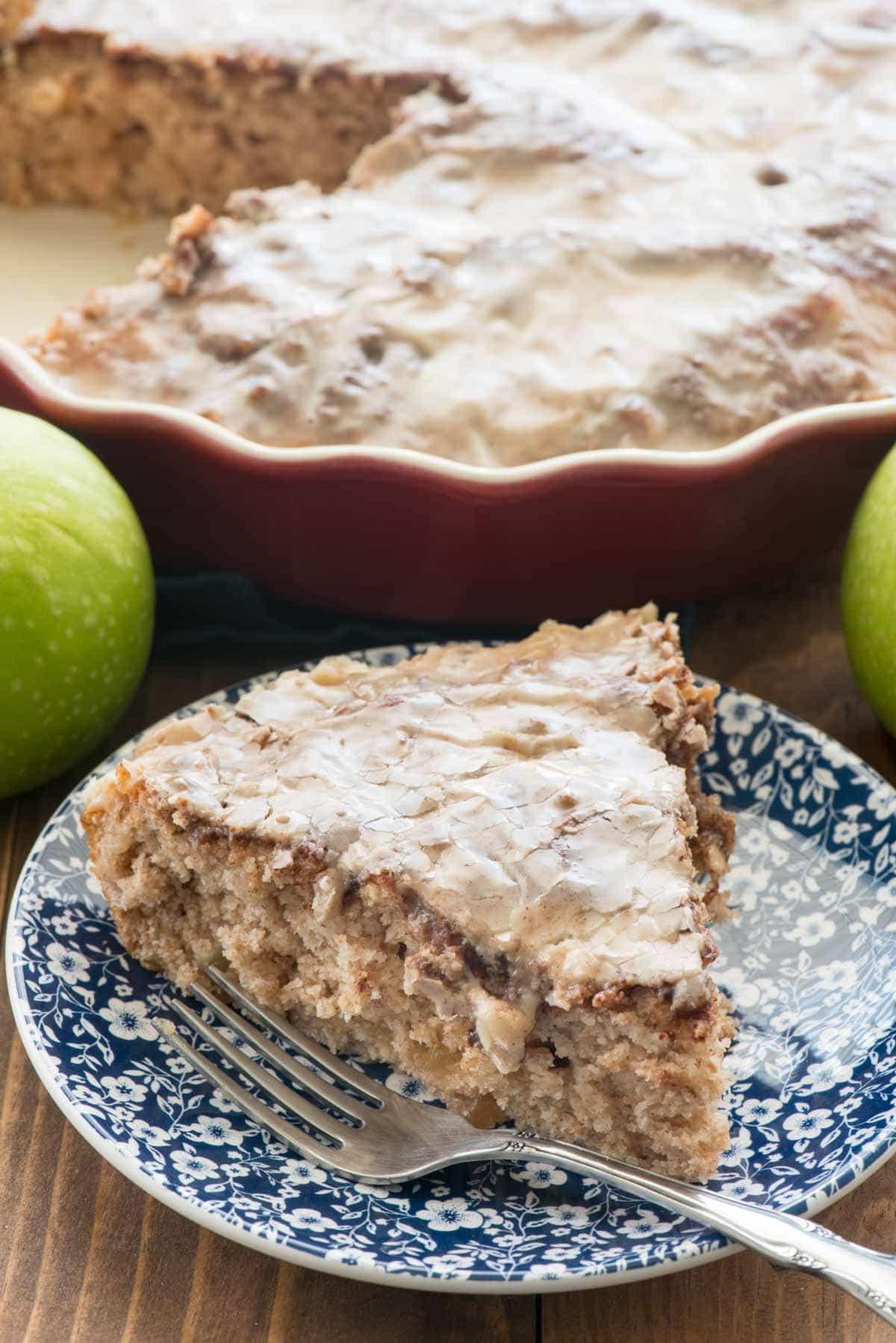 Easy Apple Fritter Coffee Cake Recipe