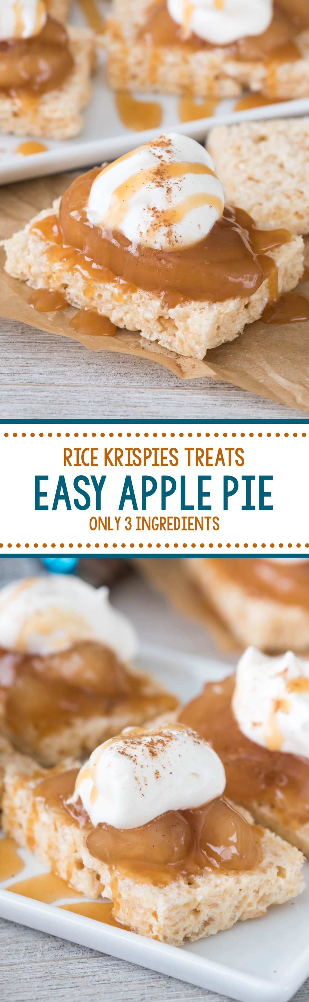 Rice Krispies Treats Easy Apple Pies - why use a pie crust when you can use a cereal treat? Only 3 ingredients, these pies are EASY!!