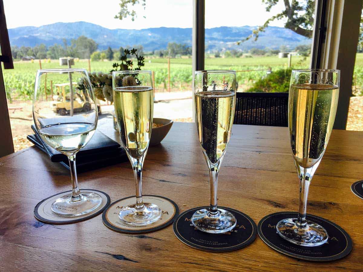 Sparkling Wine Tasting at Mumm Napa