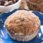 chocolate chip pumpkin doughnut muffins