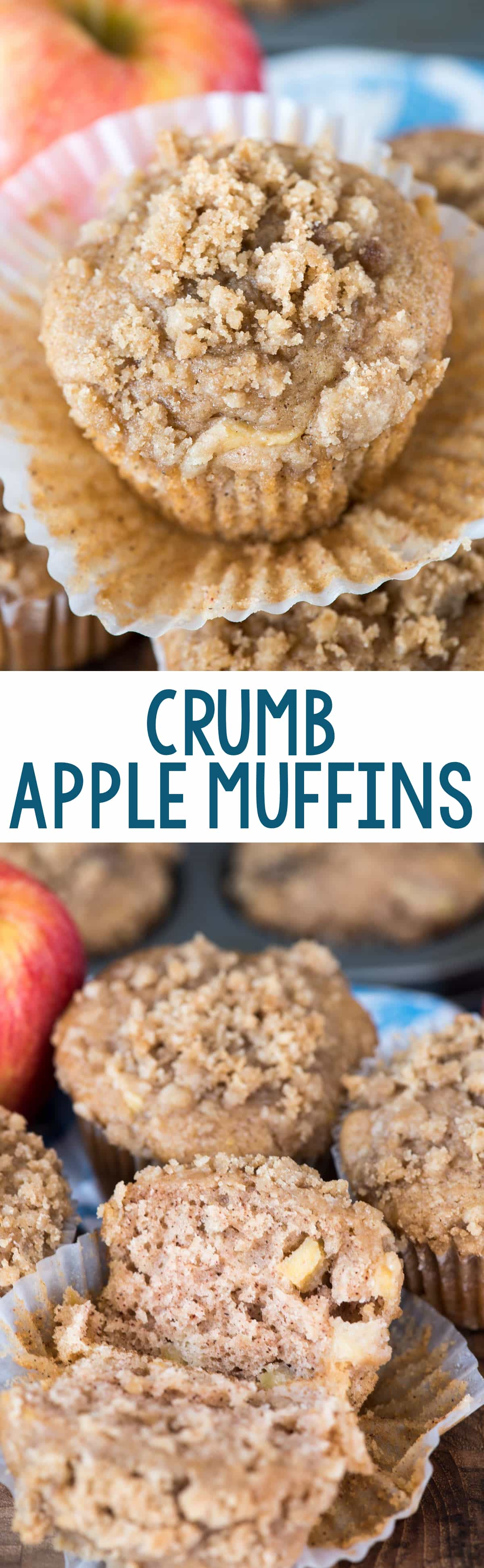 Crumb Apple Muffins - a fluffy cinnamon apple muffin filled with apple ...