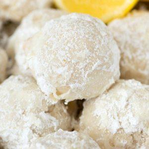 Buttery Lemon Snowball Cookies