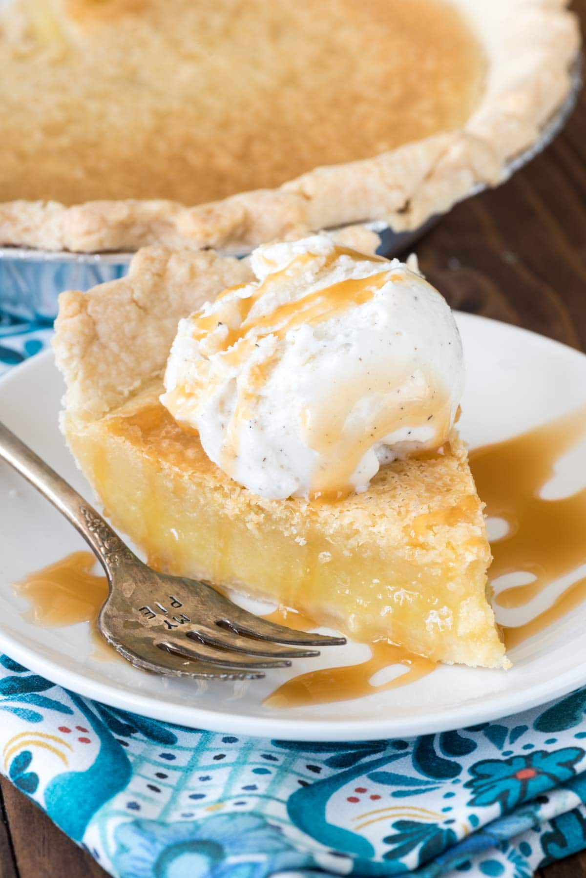 Classic Chess Pie from Crazy for Pie by Dorothy Kern