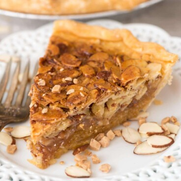 Toffee Almond Pie