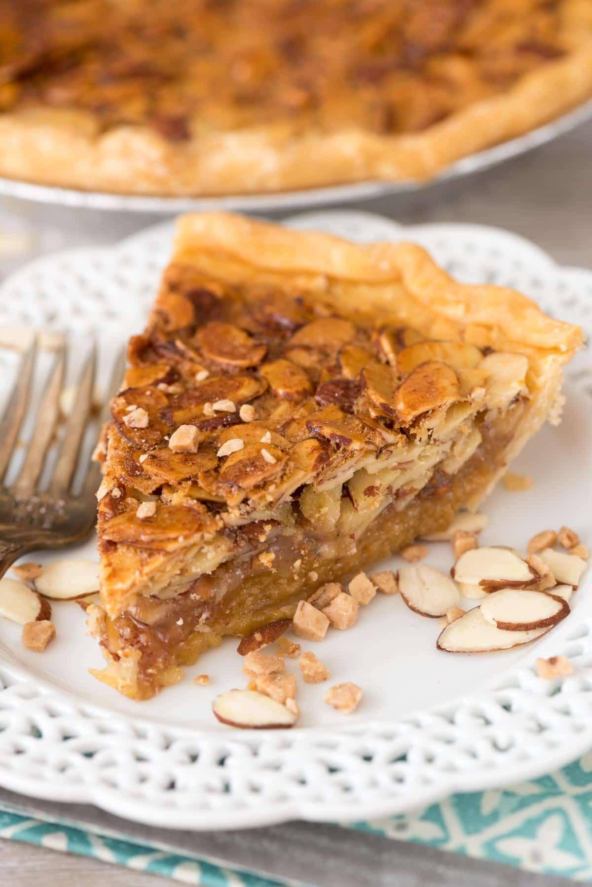 Toffee Almond Pie