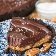 Salted Caramel Pecan Chocolate Pie