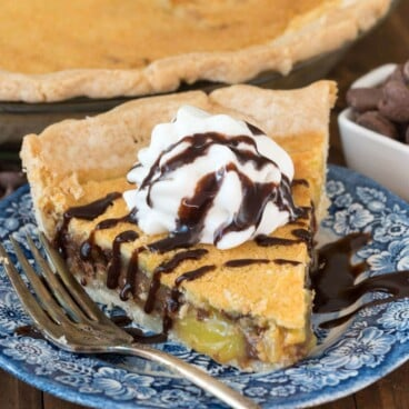 Chocolate Chip Chess Pie