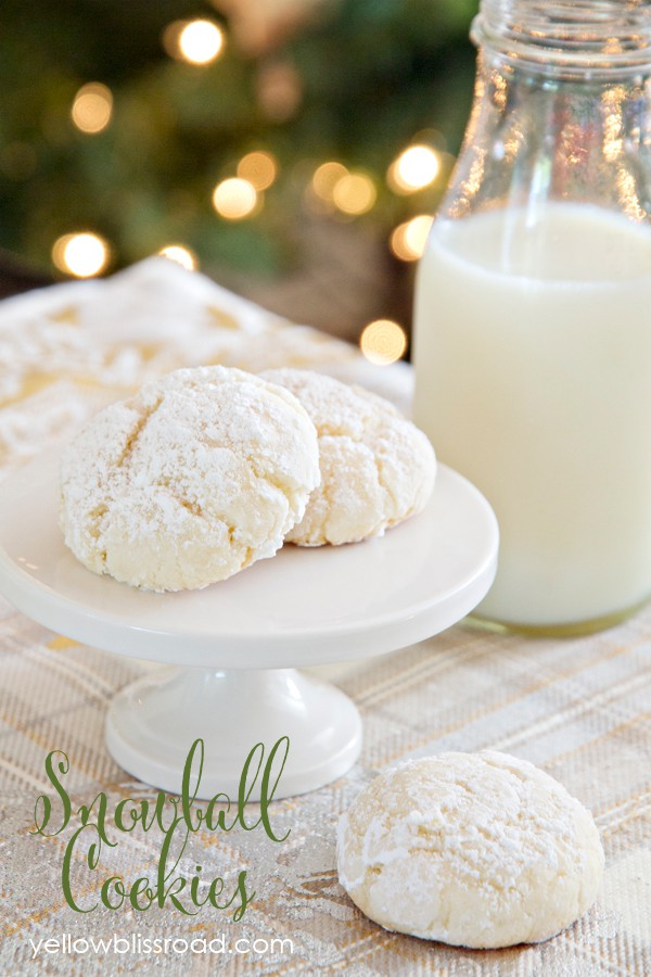 4 ingredient snowball cookies