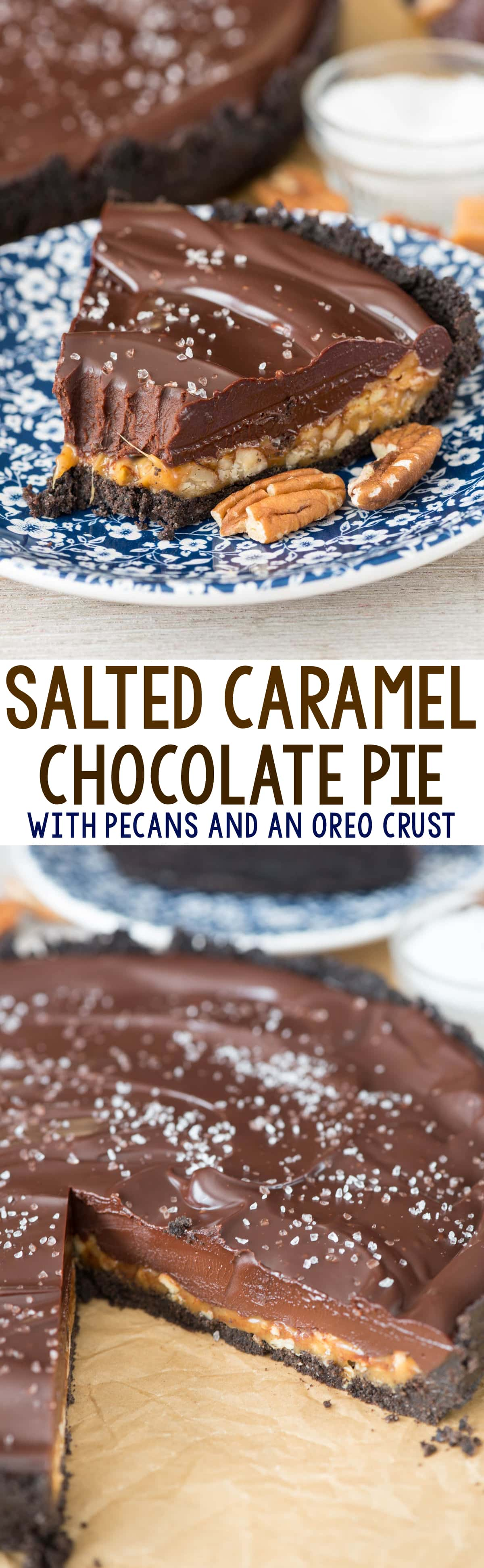 Salted Caramel Pecan Chocolate Pie - Crazy for Crust