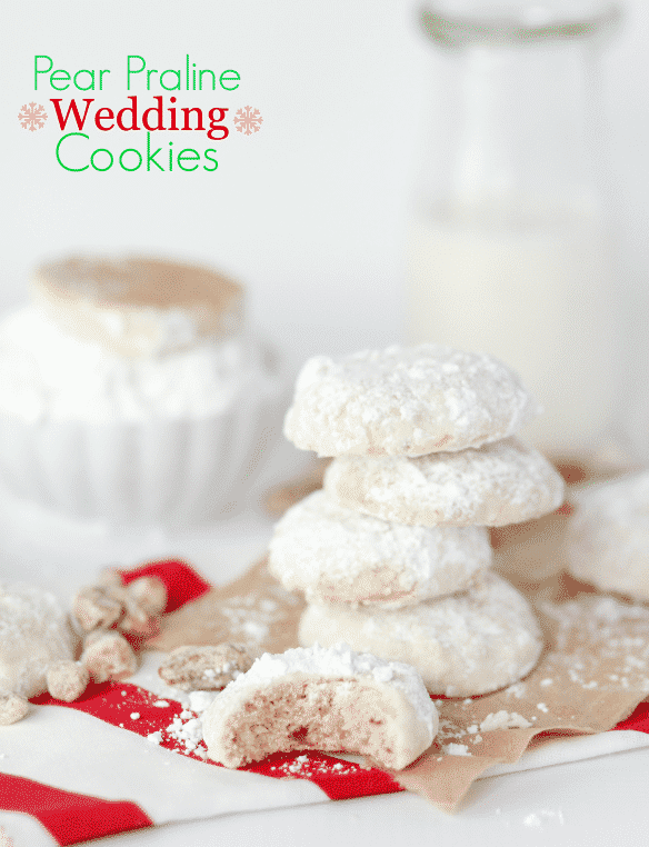 pear praline wedding cookies