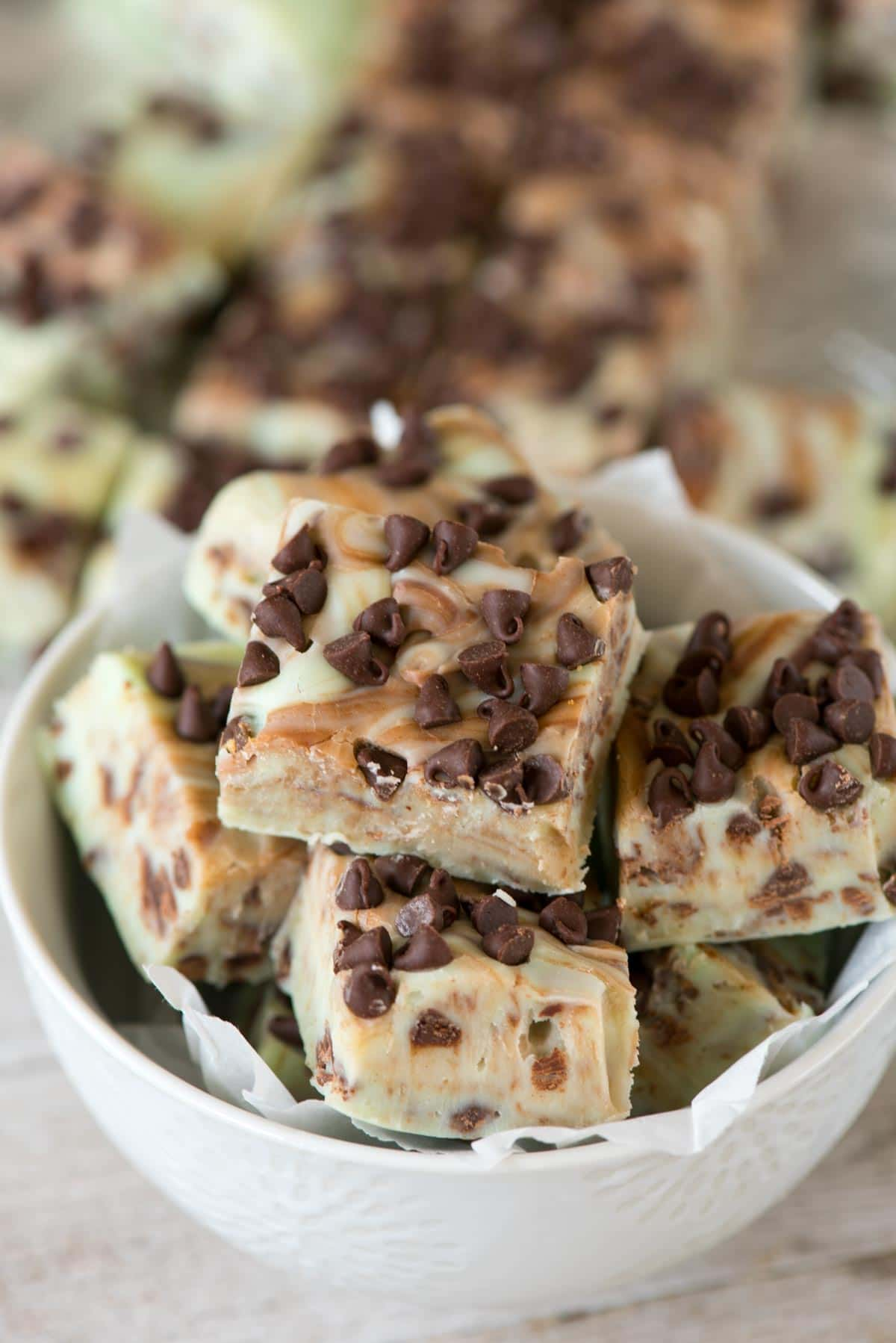 Easy 5 Minute Mint Chip Fudge