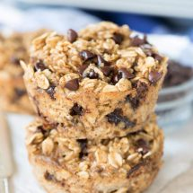 Chocolate Chip Baked Oatmeal Muffins