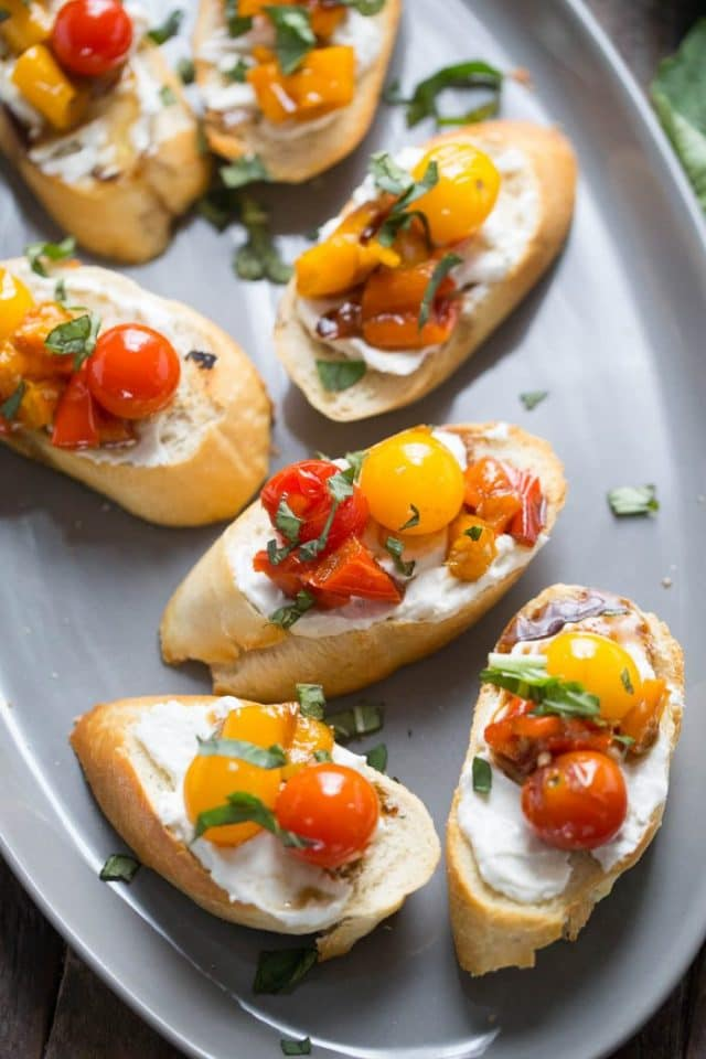Bruschetta with Roasted Vegetables