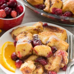 Cranberry Cinnamon Roll Bake