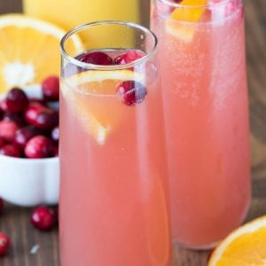 Cranberry Orange Mimosa Bellini Cocktail