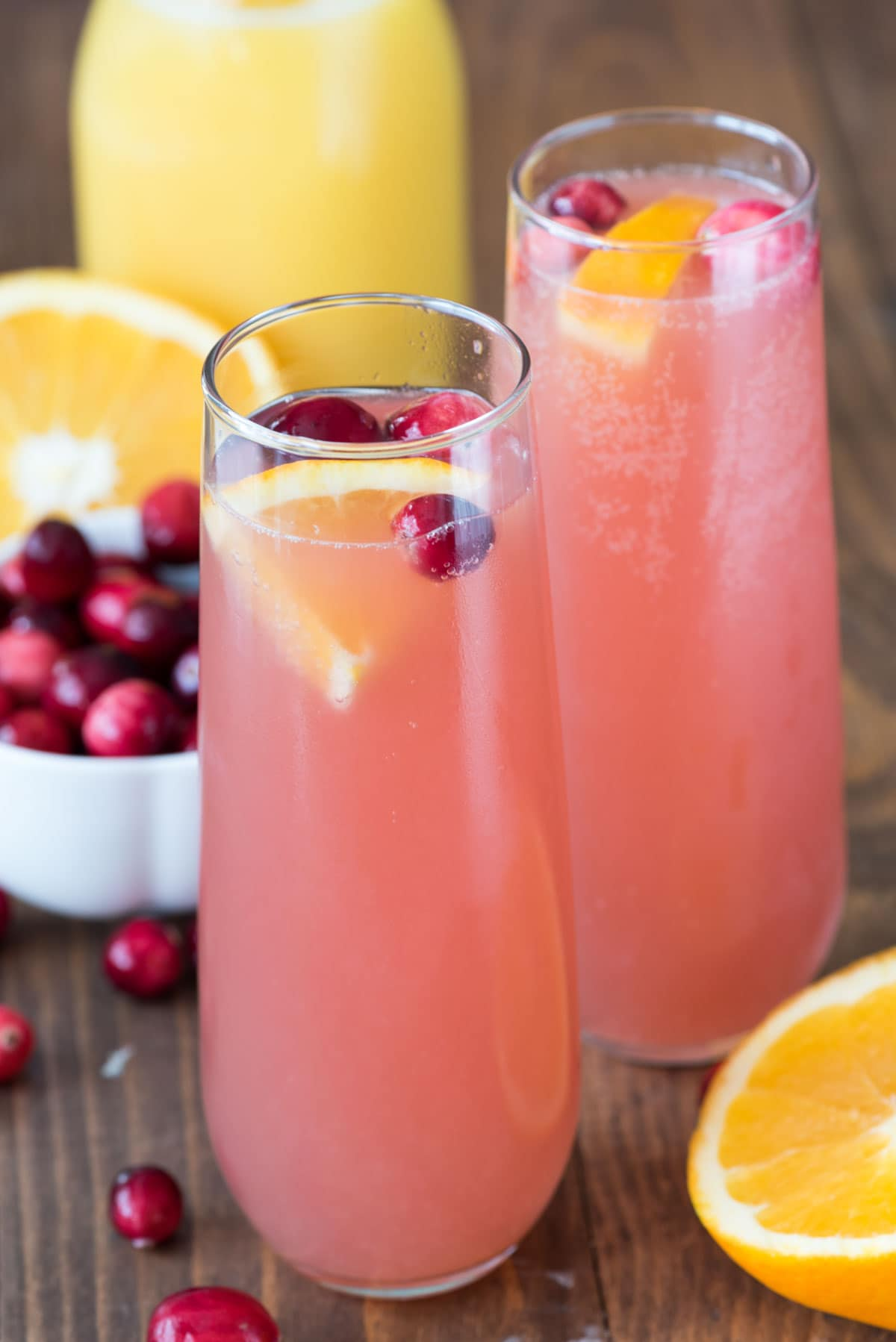 Cranberry Orange Mimosa Bellini - Crazy for Crust