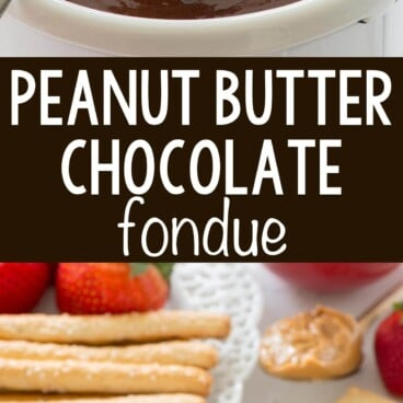 collage of fondue photos