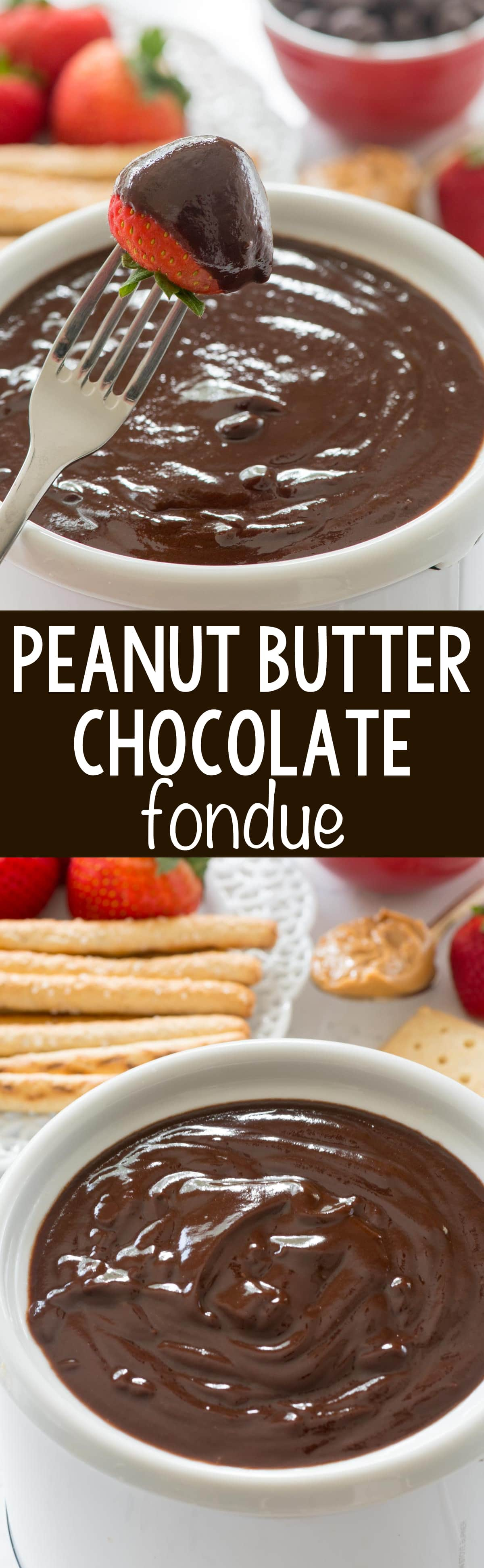 Peanut Butter Chocolate Fondue - Crazy for Crust