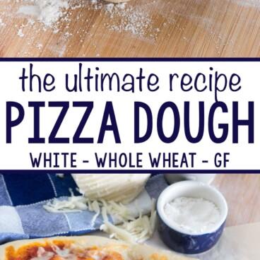 collage of pizza dough recipe
