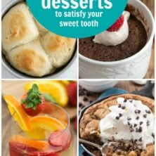 Collage of 15 Small Batch Dessert Recipes
