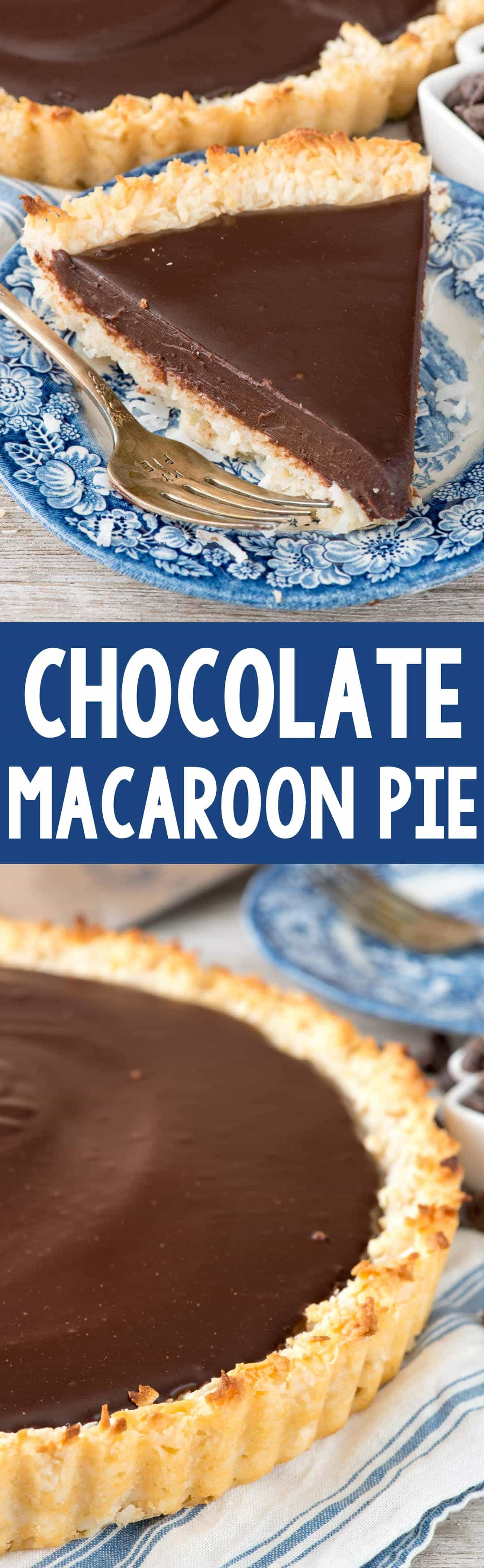 Chocolate Macaroon Pie - Crazy for Crust