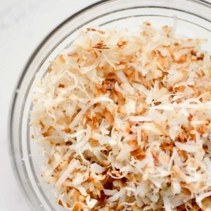How do you toast coconut? THIS WAY! This is the easiest way to make toasted coconut for ANY recipe. I even have a video demonstrating how to make toasted coconut!