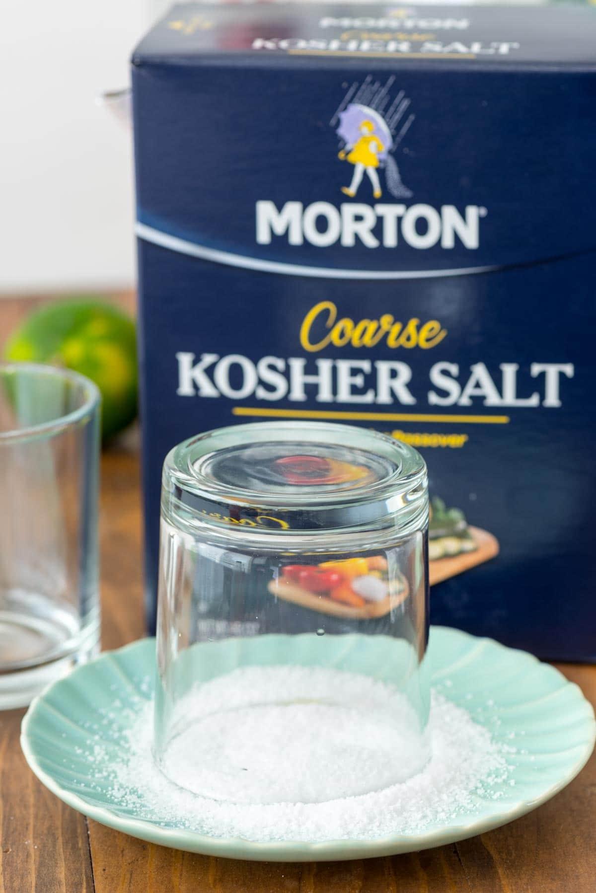 Use Morton Kosher Salt for rimming cocktails