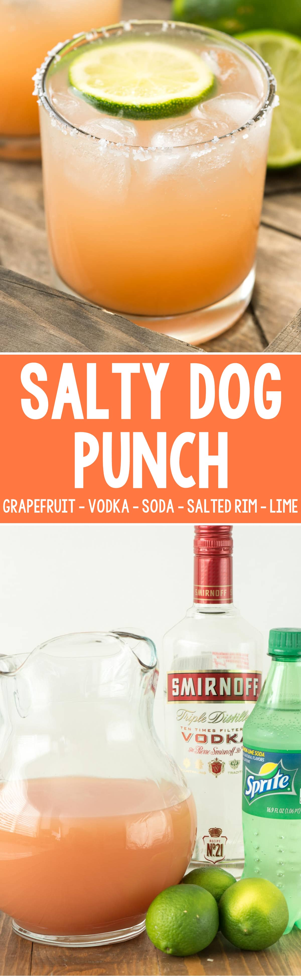 Salty dog punch crazy for crust for Vodka drink recipes simple