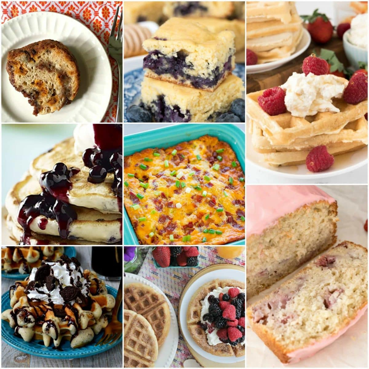 8 EASY Brunch Recipes you MUST make ASAP! These recipes all start with a mix so they're on the table in no time at all. From bread to pancakes to eggs, every favorite recipe is here!