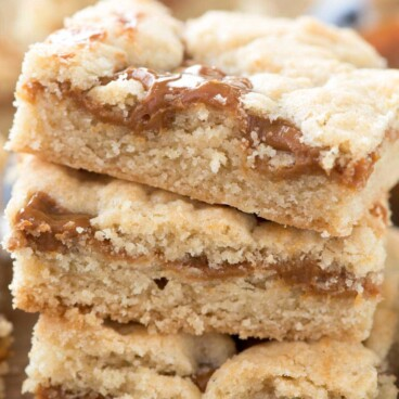 Stack of Dulce de Leche Gooey Bars