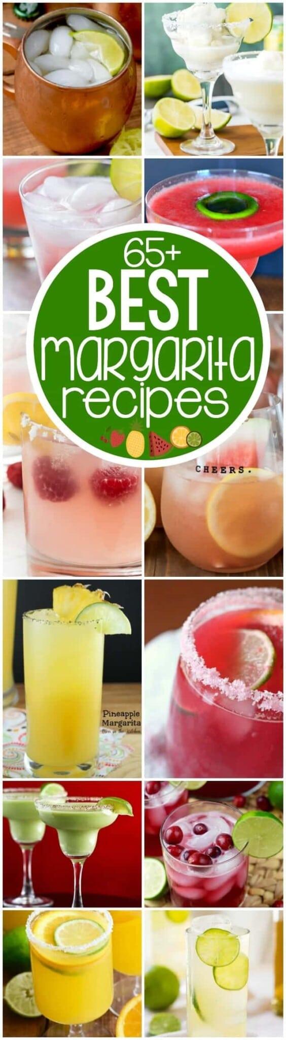 collage of 12 margarita recipes