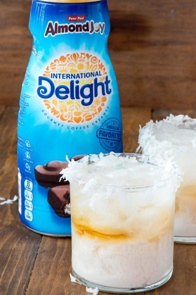 Almond Joy Cocktail using International Delight Almond Joy Coffee Creamer
