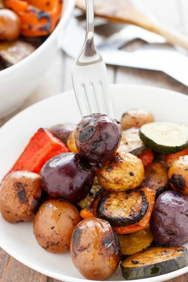 BBQ Potatoes and Vegetables