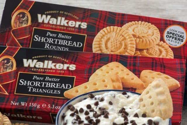 Two boxes of Walkers Pure Butter Shortbread Triangles