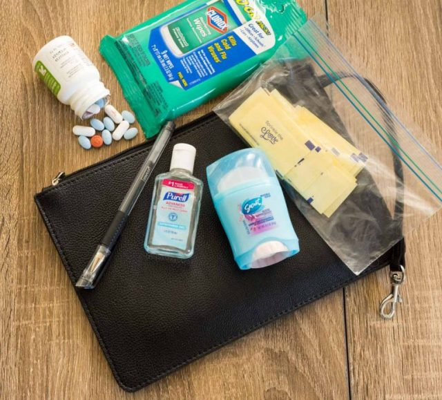 sanitizing products and medications - MUST HAVE carry on essentials!