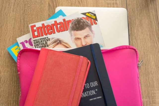 Laptop Case, perfect for storing magazines for long airline flights
