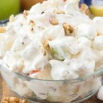 Cheesecake Apple Salad in a bowl