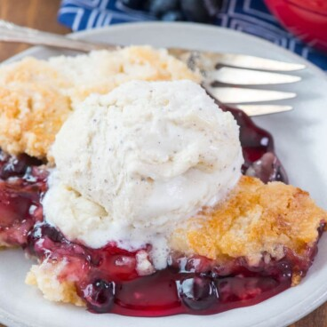 Easy Cherry Berry Dump Cake