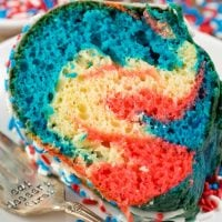 Fireworks Bundt Cake - perfect 4th of July dessert!