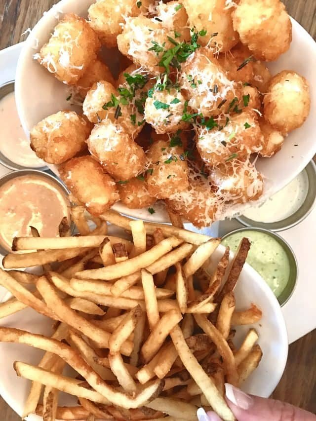 Truffle Fries and Truffle Tots