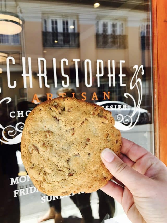 Giant cookie from Christophe Artisan Chocolatier in Charleston