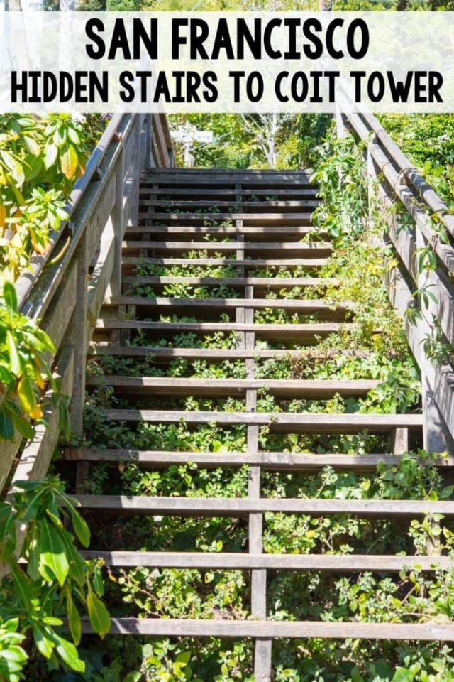 San Francisco Travel: Take the Hidden Stairs to Coit Tower for gorgeous views and a nice workout. See the hidden homes and great views of the San Francisco Bay!