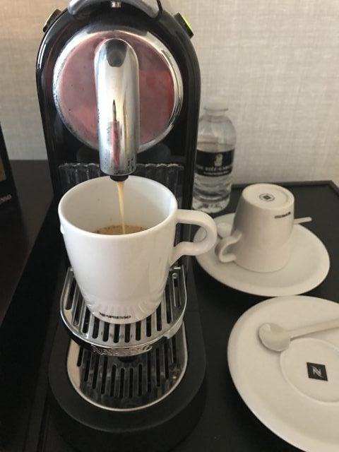 fresh coffee from the Ritz-Carlton San Francisco