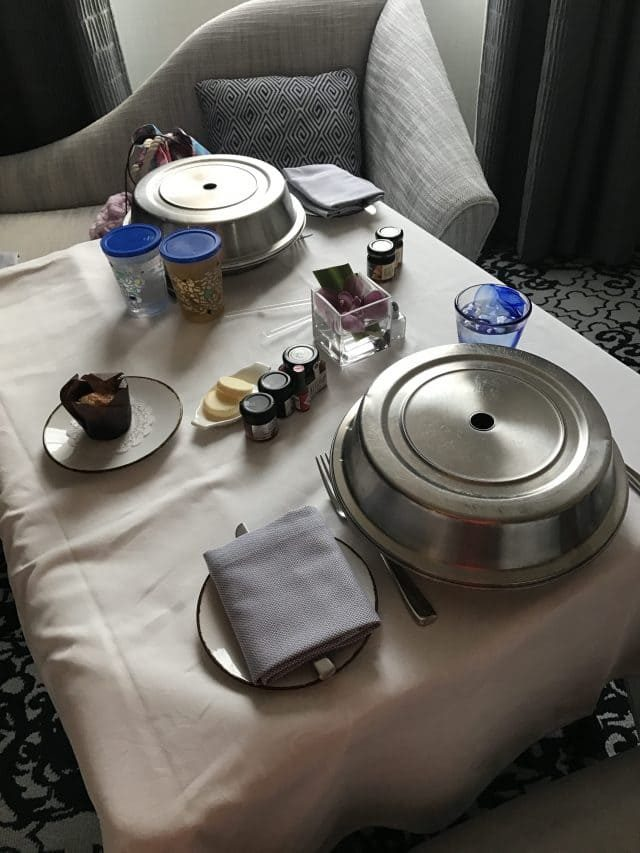 Room service at the Ritz-Carlton San Francisco